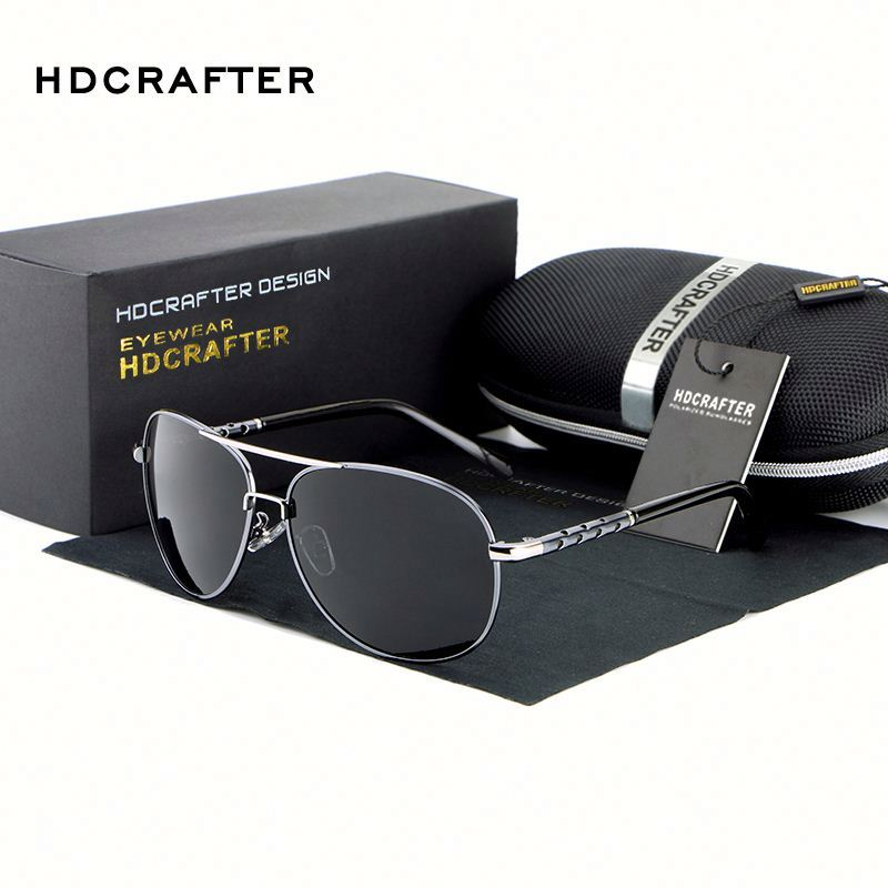 HDCRAFTER 2017 New Hot brand designer Aluminum Magnesium Polarized Sun Glasses mens sunglasses