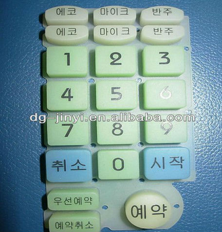 Waterproof silicone button rubber keypad