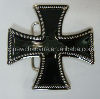 Metal material Cross Belt Buckle For Man