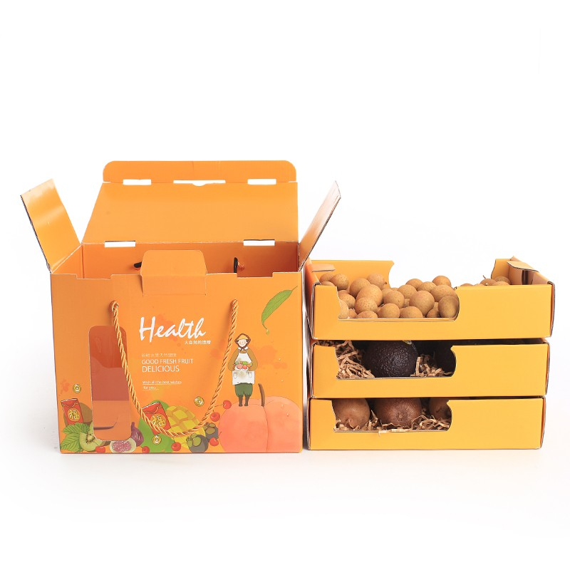 Corrugated Fruits Storage Boxes customized paper box,fruit box for mailing ,storage