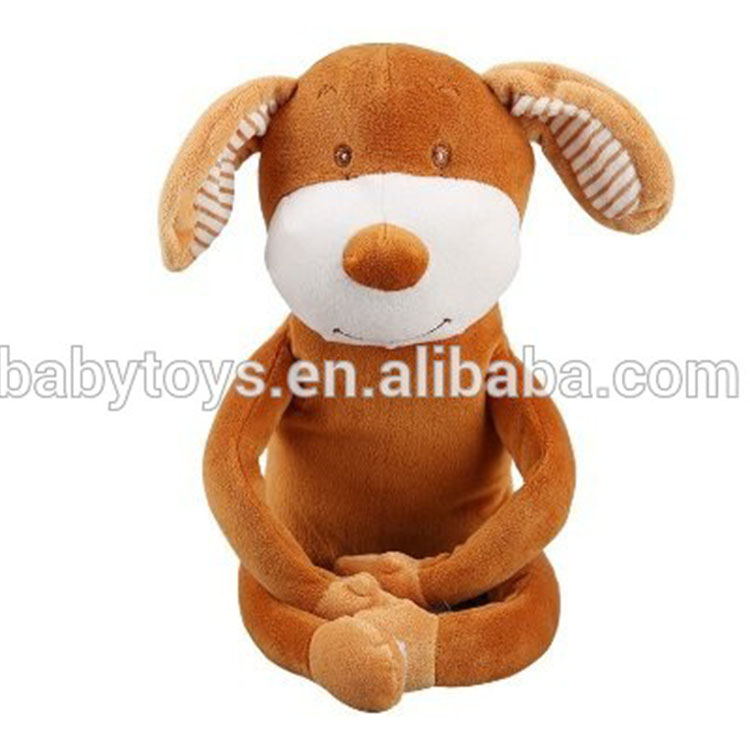 Soft plush animal baby blankie plush dog blanket