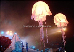 CE novel design inflatable LED jellyfish for sale,decorazioni gonfiabile