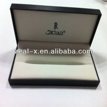 High-end black sleeve pen box with black logo
