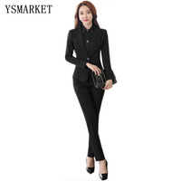 Spring Fall Classy Elegant Suit Set Wedding Evening Prom Casual office Wear Women's 2 Piece Blazer and Pants Suit Set Slim Fit