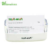 Office Equipment creative Tenwin 1050 plastic white name card holder for business