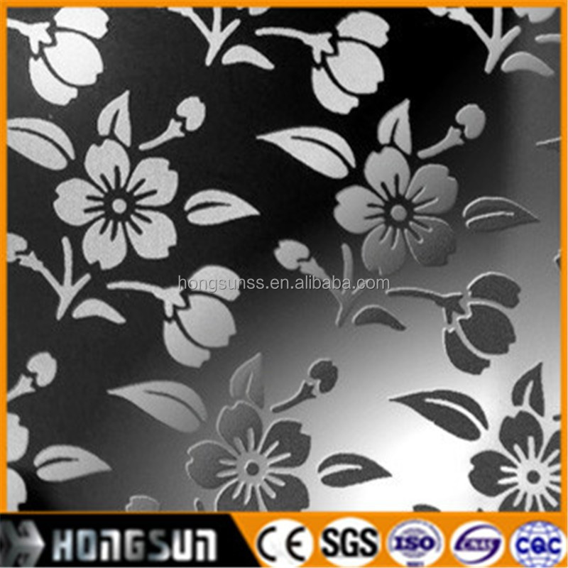 316 etching finish stainless steel sheet for decorative mirrors