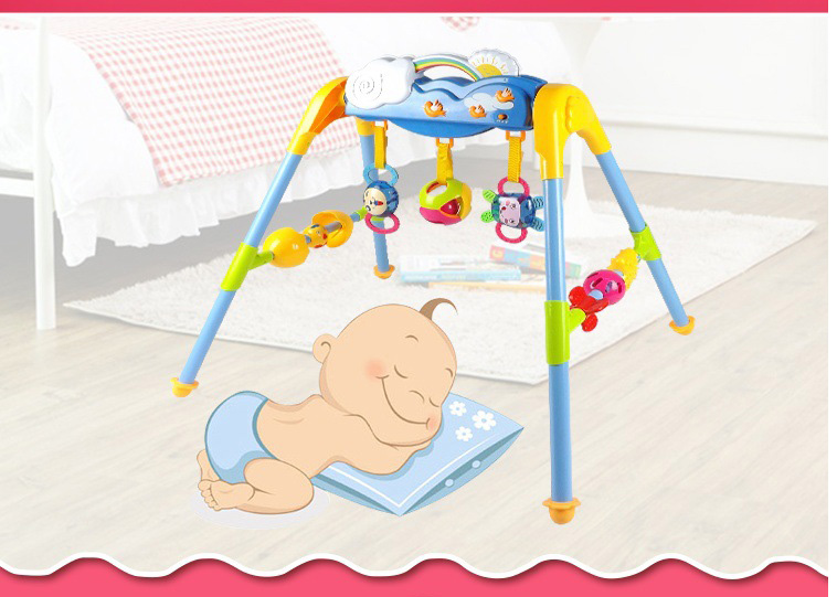 High quality plastic baby fitness frame Intelligent play gym with musical toys