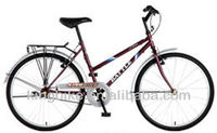 "2013 hot sale 26"" comfortable bike for lady with carrier"