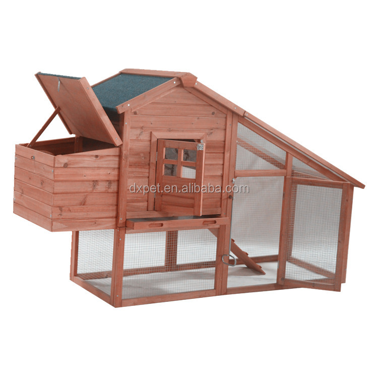 TUV FSC certificated high temperature drying large wooden chicken coop/hen house