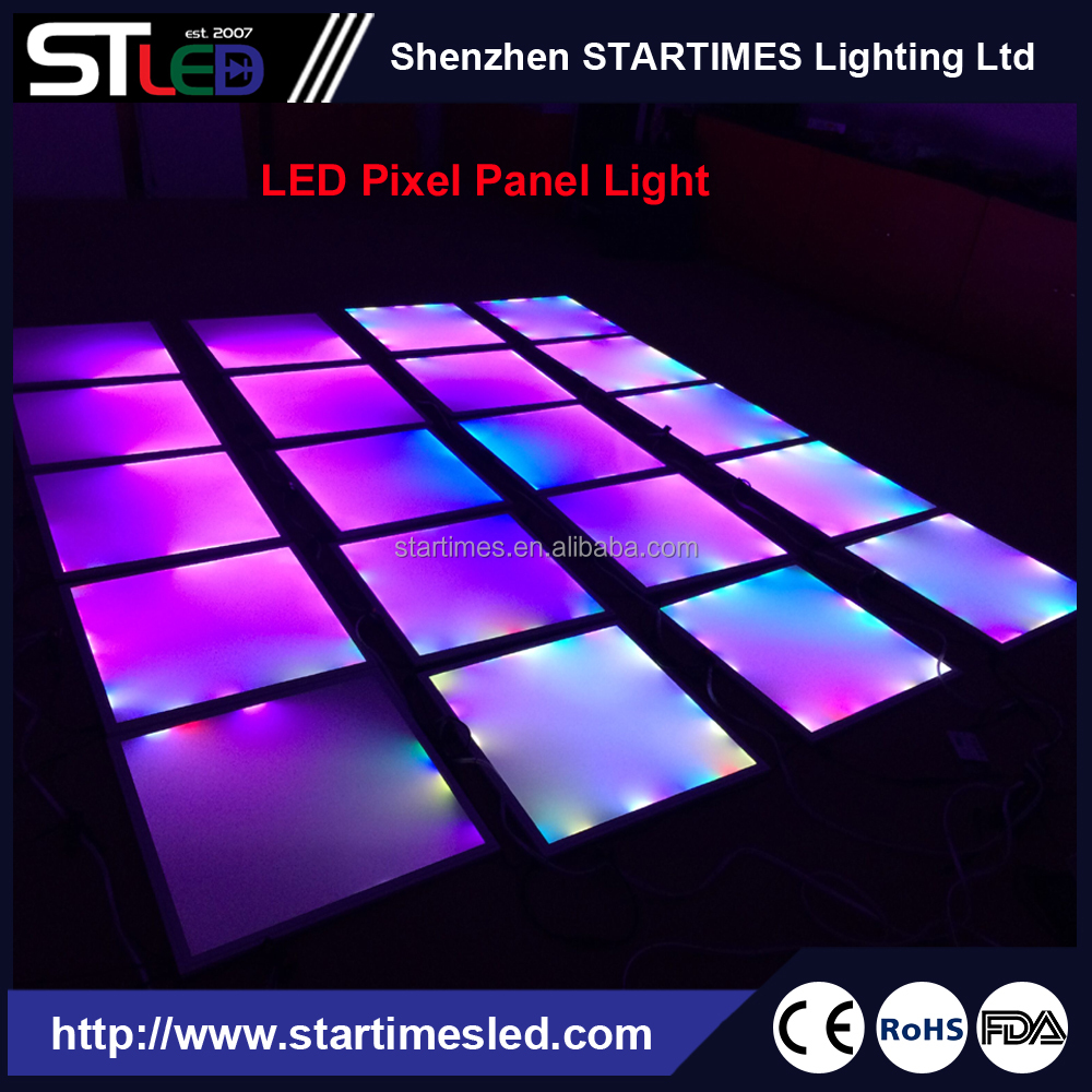 WS2811 DJ LED Pixel panel light, 600*600 square with 40W power, RGB changing magic effects for disco, bar, KTV, stage