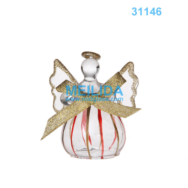 Small glass christmas angel ornaments