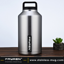 Large capacity stainless steel vacuum insulation wide mouth sports kettle