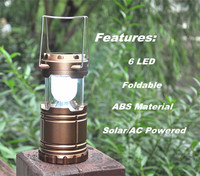 (F0568)ABS Solar Power Rechargeable Camping Lantern Ultra Bright Solar Lantern