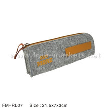 recycled Leather recycled PET felt pouch RPET pencil case pencil bag cell phone case pouch wallet
