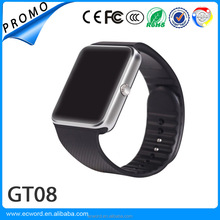 Cheap Mobile phone with FB WhatsApp Skype Smart Watch GT08 Clock Support Sim Card Bluetooth Smartwatch for Android Phone