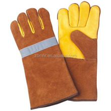 Brand MHR pig welding glove reinforced glow in the dark white gloves