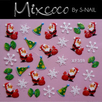 New year Christmas Design 3D Nail Art Stickers Decals Nail accessories Decoration
