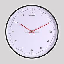 12 inches 30 cm Guangzhou supply directly cheapest metal wall clock with glass