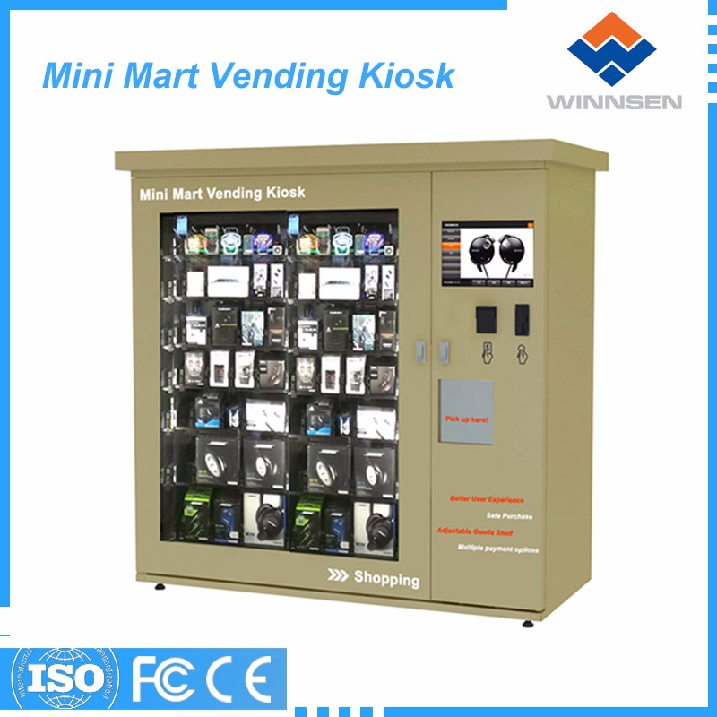 Golden seller girls attractive cosmetic and nail polish vending kiosk