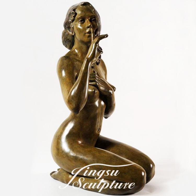 Home Decoration bronze nude sexy ladies statue