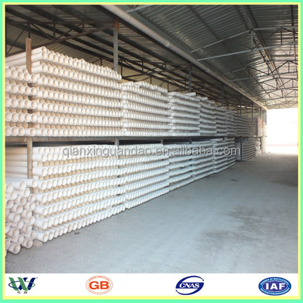 manufactory supply different types pvc pipe for water