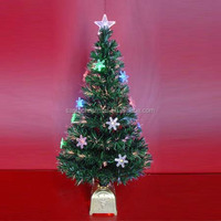 LED Decorative Fiber Optic Christmas Trees
