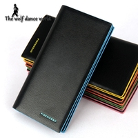 2016 New PIDENGBAO Men Purse Genuine PU Leather Wallets Long style Business Man Wallet Pocket Coin Card Slots Holder