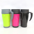 Mug Cup Custom Printed Plastic Double Walled Travel Coffee Mug