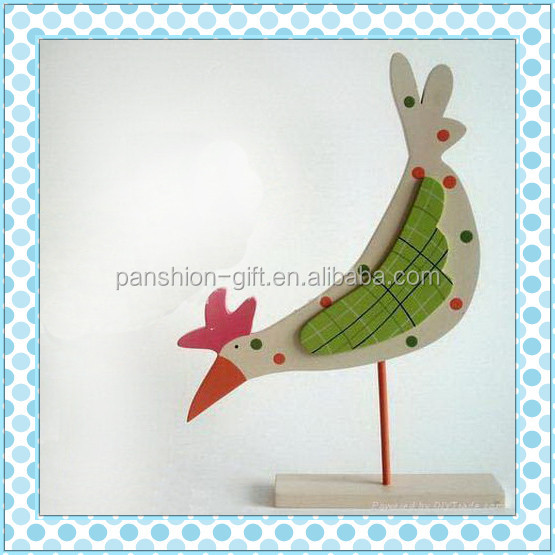 home decor easter day decoration wooden hen