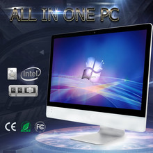 Cheap price 27 inch celeron CPU 4GB memory 500GB HDD desktop computer all in one PC laptop