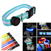 LED Light Glow Nylon Adjustable Colorful Pet DOG Puppy Cat Collar High Quality
