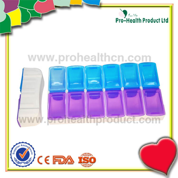 Best Selling Products 14 Compartments 7 Day Plastic Pill Box