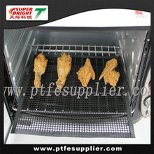 PTFE Non-Sticky Microwave Oven Mesh Mat - heat resistant 500F, cooking crisp, pizza