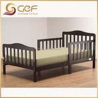 Kids natural wood bed toddler kid single bed GEF-KB-76