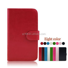 factory price phone cases wallet leather cover case for Lenovo A660