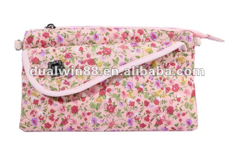 Korea style cotton fabirc bag small girls bag teenage shoulderbag