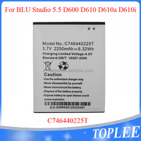 C746440225T Cell Mobile Phone Battery for BLU Studio 5.5 D600 D610 D610a D610i 2250mAh Batterie