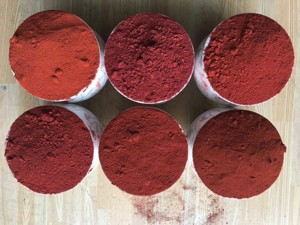 high quality cement color iron oxide red pigment manufacture