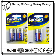 Low Price UM3 R6 Metal Jacket Carbon Zinc 1.5V AA Battery