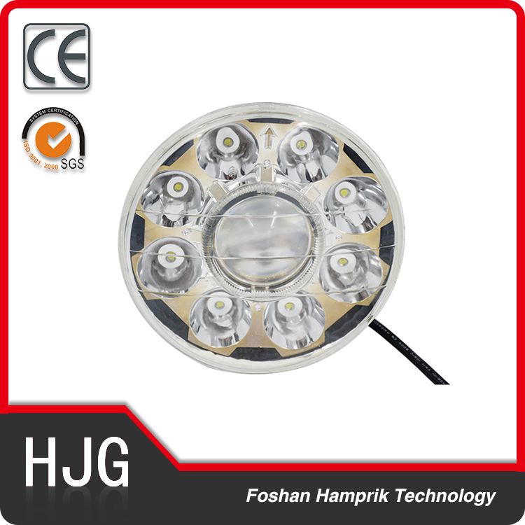 36w motorcycle parts LED headlight for Harley off road with projector