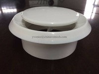 Air conditioned ceiling diffuser Round Plastic Disc Valve air grille
