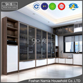 hot sale living room corner glass showcase design