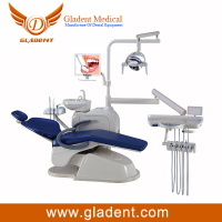CE approved dentistry dental unit price sanitary seamless cushion and backrest