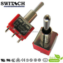 6 Way Waterproof 250V Long Actuator On Off On 3 Pins Metal Toggle Switch