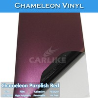 CARLIKE Air Bubble Free Self Adhesive Film Chameleon Vinyl Wrap For Car