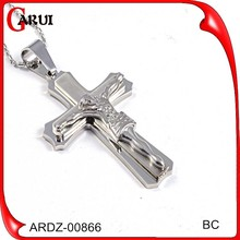 fashion jewelry 2015 jesus face stainless steel cross pendents for men