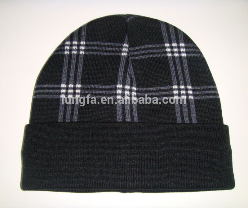 New coming hot sell dark color wholesale knit beanie