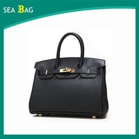 2016 Hot Selling Women Genuine Leather And Custome Blank Tote Shoulder bag At Guangzhou