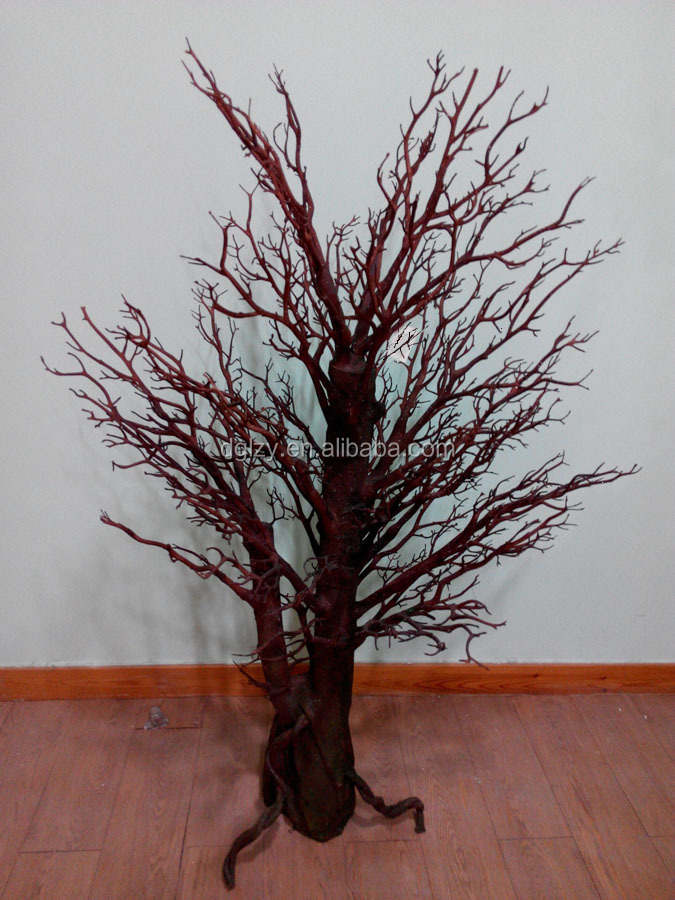 New look centerpiece stands dry tree branches wedding