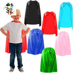 Cheap Satin Custom Party Fancy Dress Kids Superhero Capes HPC-0501
